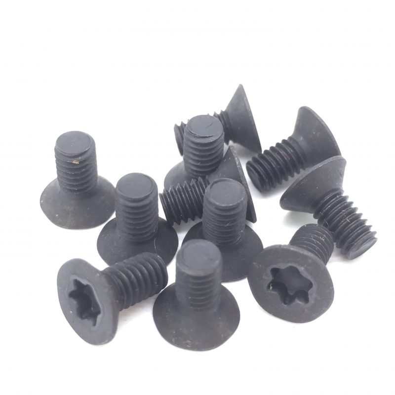 Tork Screws Flat Head Torx Screws Black Six Lobe Carbon