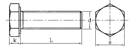 Hex bolt drawing