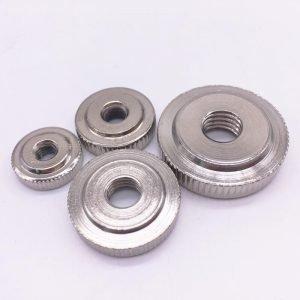 Thumb Nuts Thin Knurled Steel