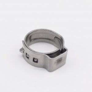 Pinch Clamps Stepless Single Ear Tight-Seal Vibration-Resistant for Firm Hose and Tube 304 Stainless Steel