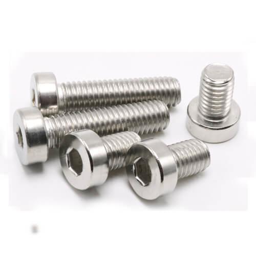 Cap Screws Socket Head Low Profile Hex Bolt DIN7984 Stainless Steel 304