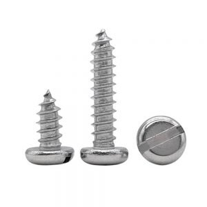 slotted self tapping screws stainless 316